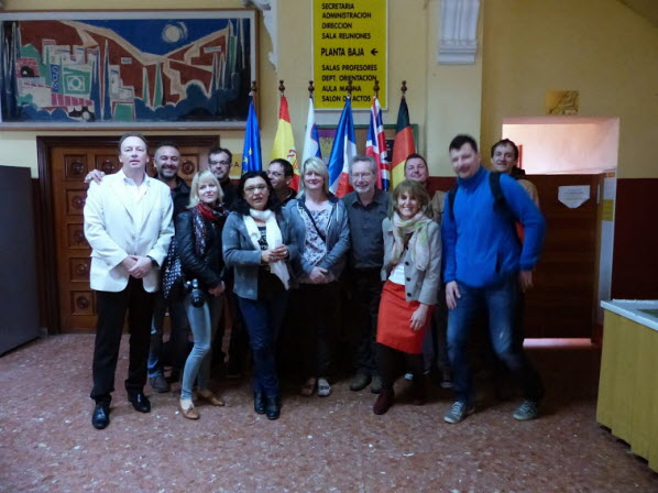 Teachers at IES La Rosaleda